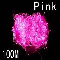 Pink màu sắc 100 meter 800 LED Christmas Lights 8 Chế Độ cho Trang Trí Giáng Sạn Holiday Wedding Các Bên Trong Nhà/Ngoài Trời Sử Dụng