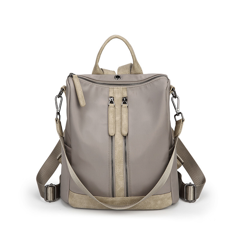 S P L new casual fashion ladies backpack bag shoulder bag double use patchwork solid oxford
