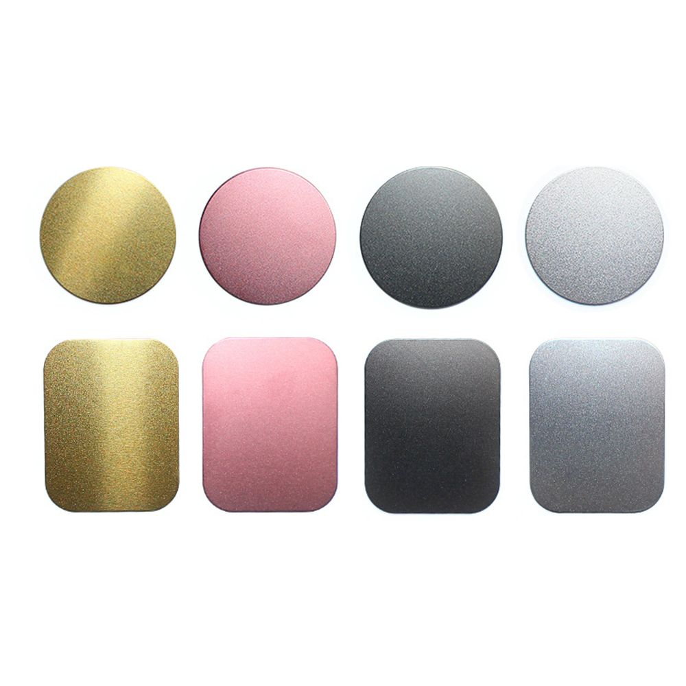 SEKINNEW Drawing Metal Plate Disk For Magnet Car Phone Holder Iron Sheet Sticker Magnetic Mobile Phone Holder Car Stand Mount
