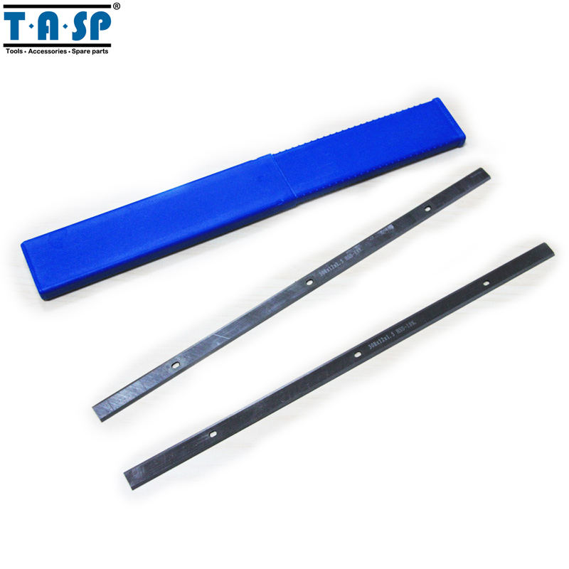 TASP HSS Wood Thickness Planer Blades Woodworking Power tools Accessories 308x12x1.5mm For MacAllister COD305P 6 wood planer 152mm woodworking flat planer 1280w bench electric planer 0 3mm wood planer