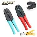 xintylink RJ45 crimper cat7 cat6a hand tools Crimping Cable Stripper pressing line clamp 8p8c pliers connector clip clipper