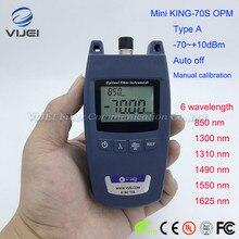 FTTH מיני KING 70S סוג אופטי מד כוח סיבים אופטי כבל Tester  70dBm ~ + 10dBm מד כוח