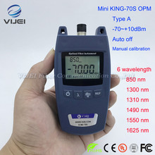 FTTH Mini KING 70S tipo un Tester ottico del cavo della fibra del Tester di potenza 70dBm ~ + 10dBm misuratore di potenza