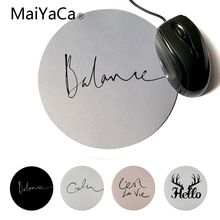 MaiYaCa New Design Balance Gamer Speed Mice Retail Small Rubber Mousepad Computer Game Round Mouse Pad