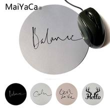 MaiYaCa New Design Balance Gamer Speed Mice Retail Small Rubber Mousepad Computer Game Rubber Round Mouse Pad(China)