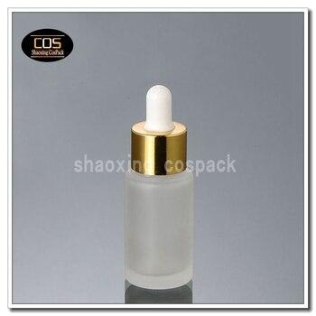 100pcs DB26-20ml glass dropper bottles manufacturers, 20ml glass bottles with gold shell droppers, 20 ml glass dropper bottles