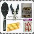 High Quality DIY Tool Set Pre-bonded Hair Extension Tools, Steel Plier, Loop Brush, Screw Micro Ring, Loop Needle & Hair Clips