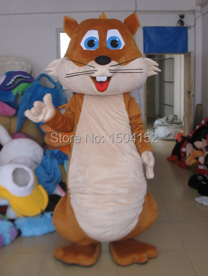 Nouveau design belle mascotte écureuil costume chipmunk mascotte costumes pour adulte Halloween carnaval fête événement