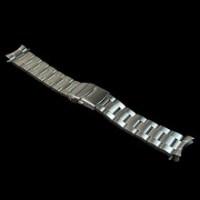 20/22mm Stainless Steel Watchband Curved End Strap Fold Buckle Clasp Wrist Belt Bracelet Silver For Seiko Watch Accessories(China)
