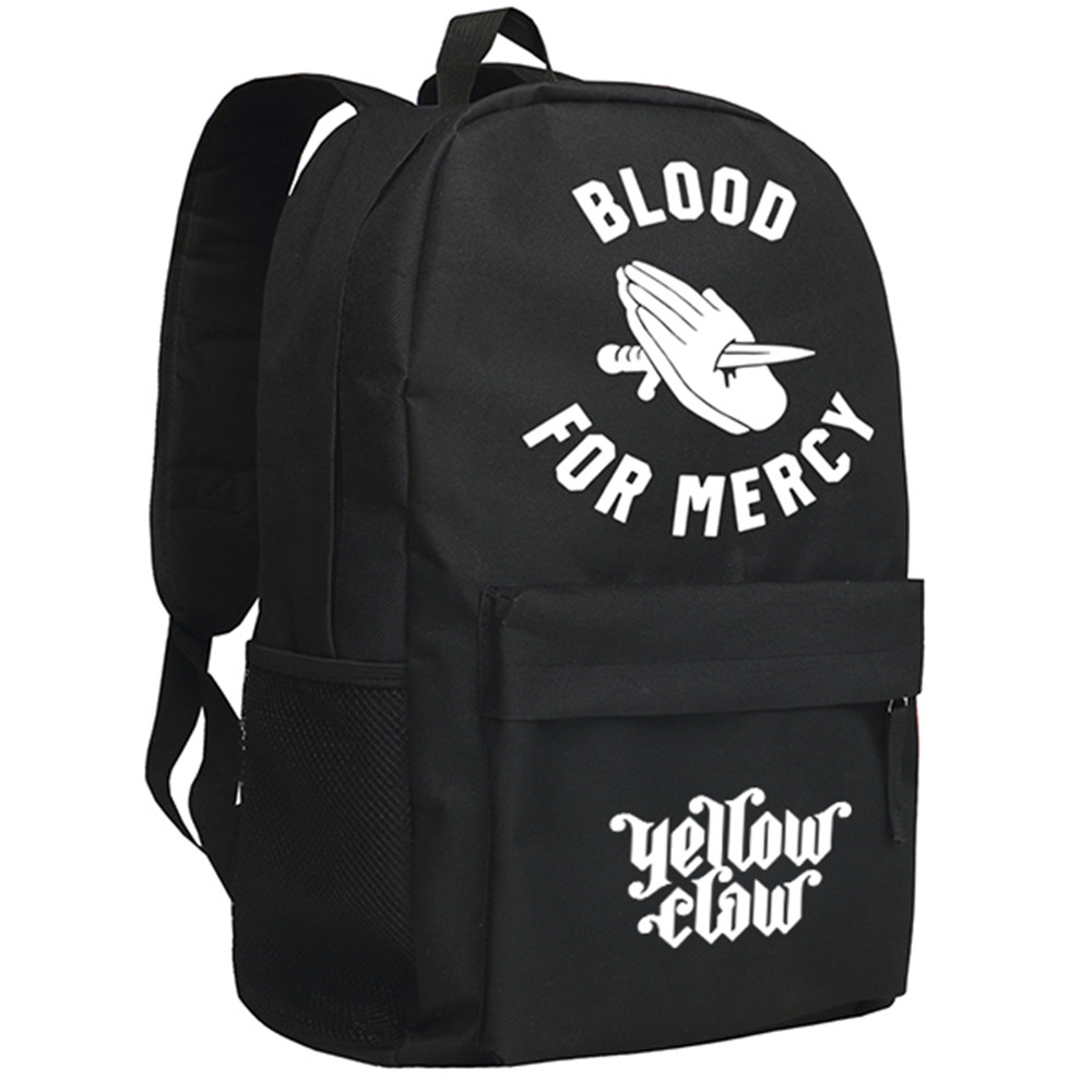 Zshop Yellow Claw Blood for Mercy Backpack Teenagers Schoolbag Boys and Girls Daypack