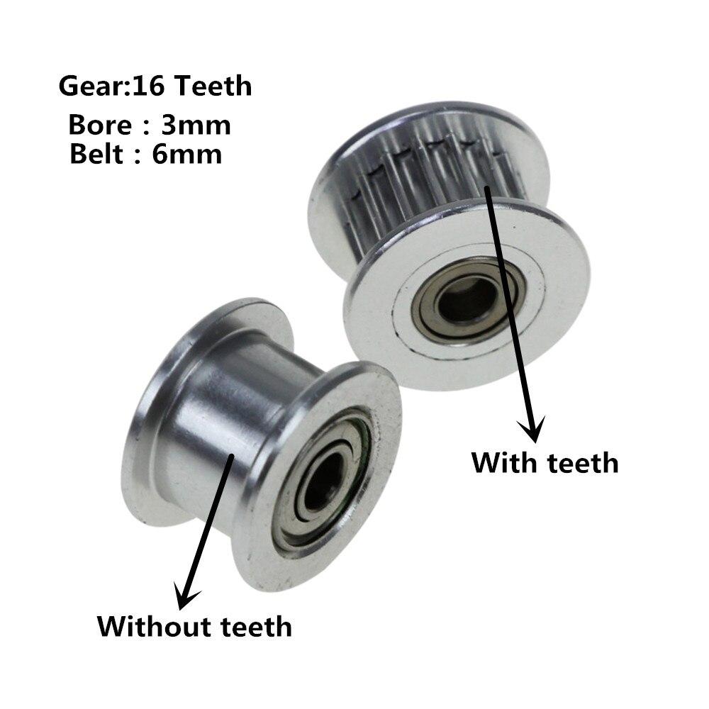 2GT 16 dientes polea de rueda síncrona con dientes/sin dientes impulsado Perlin