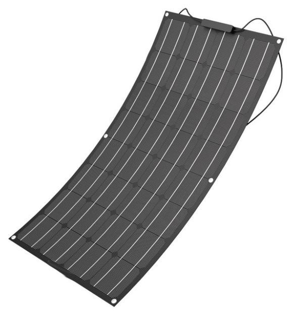 NEW Black ETFE Flexible Solar panel 18V 100W Boat Caravan Battery RV Motorhome Charge