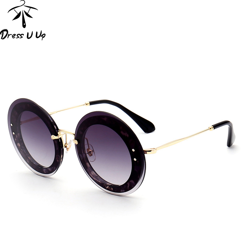DRESSUUP Newest Fashion Round Sunglasses Women Brand Designer Vintage Gradient Shades Sun Glasses Oculos De Sol Feminino Lentes in Women 39 s Sunglasses from Apparel Accessories