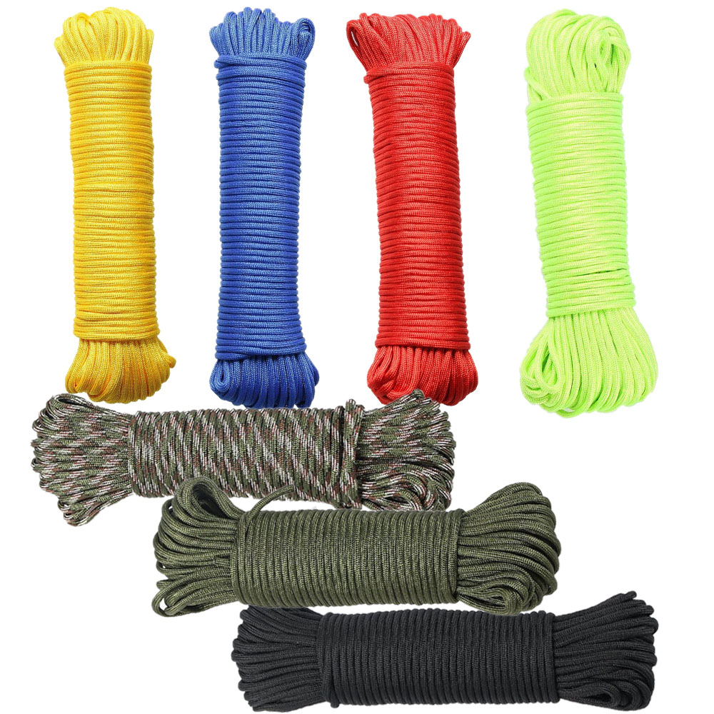 550 Paracord Parachute Cord Lanyard Mil Spec Type III 7 Strand Cord Hiking