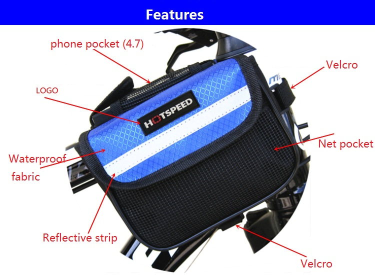 Riding Cycling Bag Water Resistant Cycling Bike Top Tube Bag Bicycle Front Frame Pannier Pouch Carrier 2018