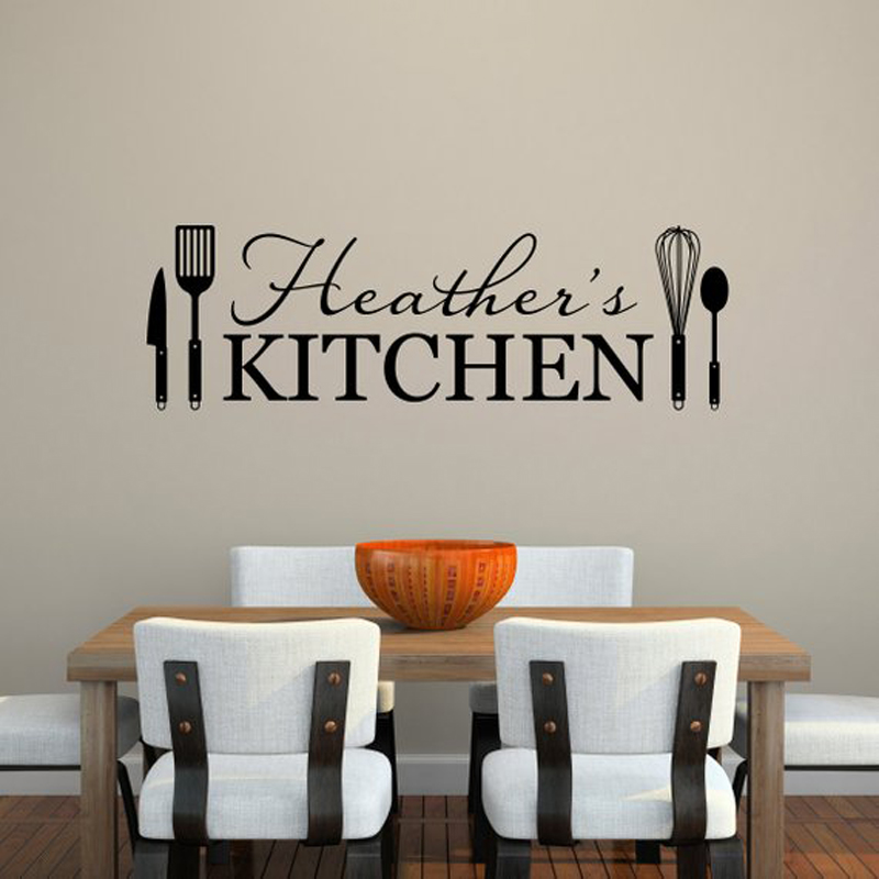 Sticker Kitchen Kitchen Shelves Utensils Wall Decal Wall Art Dining Room