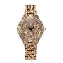 2016 Nuevo de Las Mujeres Relojes de Cuarzo! Rhinestone de lujo Del Reloj de Moda y Reloj Casual Vestido Reloj de Pulsera marca de Lujo Reloj Relojes