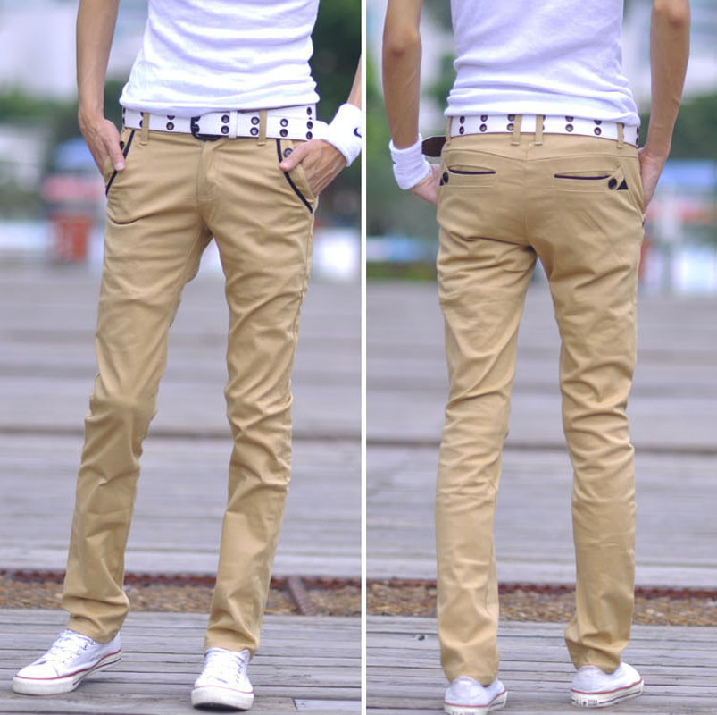 f46d2f76 Summer male khaki trousers male casual pants slim skinny pants male teenage  fashion trousers-in Pants from Men's Clothing on Aliexpress.com | Alibaba  Group