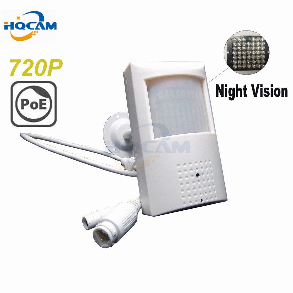 HQCAM 720 P caméra ip poe caméra de Vision nocturne 940nm caméra infrarouge Camer POE détecteur de mouvement Style PIR caméra infrarouge ONVIF Invisible