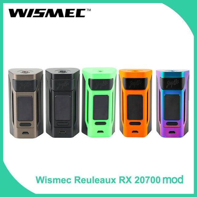 100% Оригинальный wismec reuleaux RX2 20700 TC поле Mod электронная сигарета 1,3 дюймовый дисплей vape mod