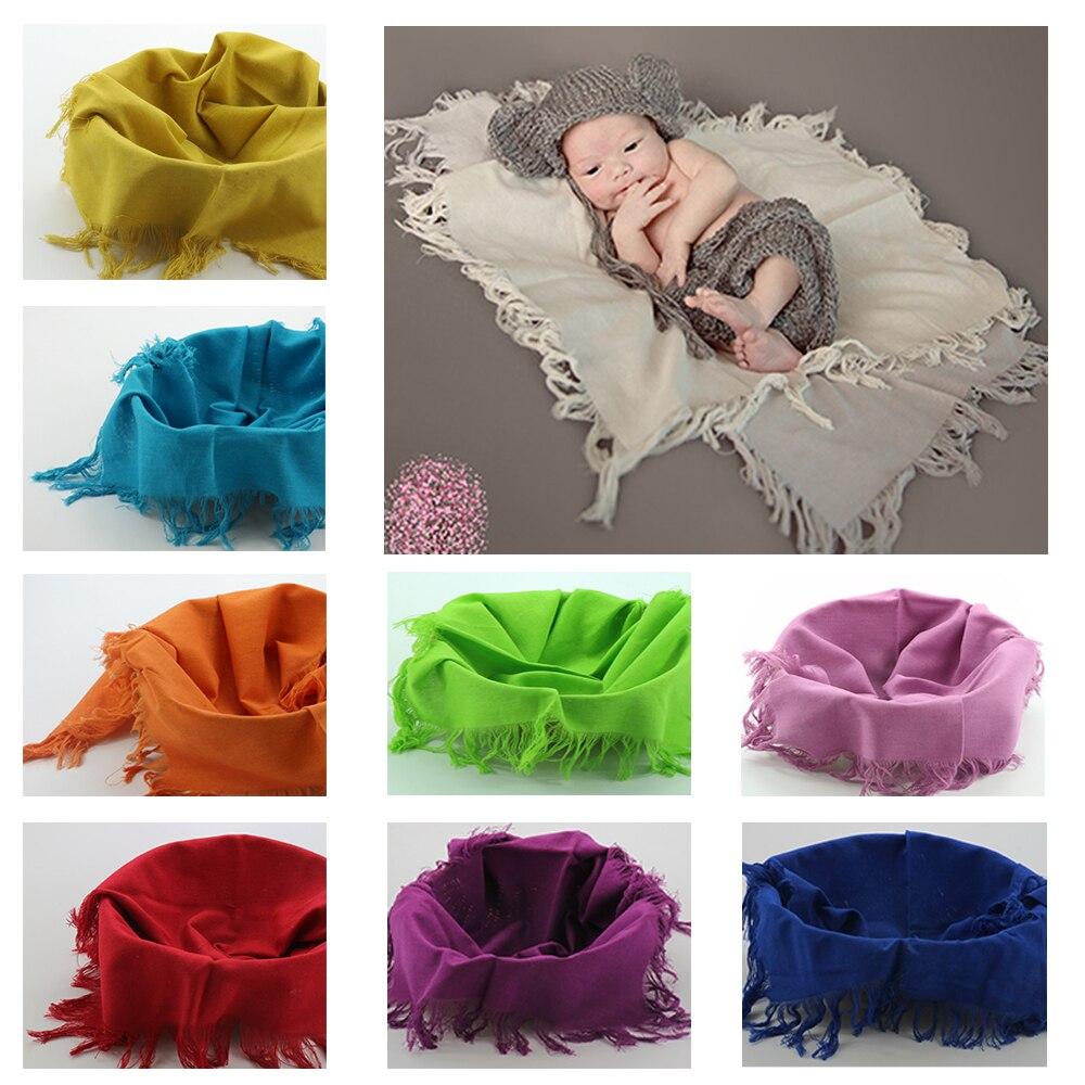 D & J 75*50cm couches de lin Mini panier de remplissage panier de remplissage bébé photographie couvertures nouveau-né accessoires bébé Studio Photo toile de fond
