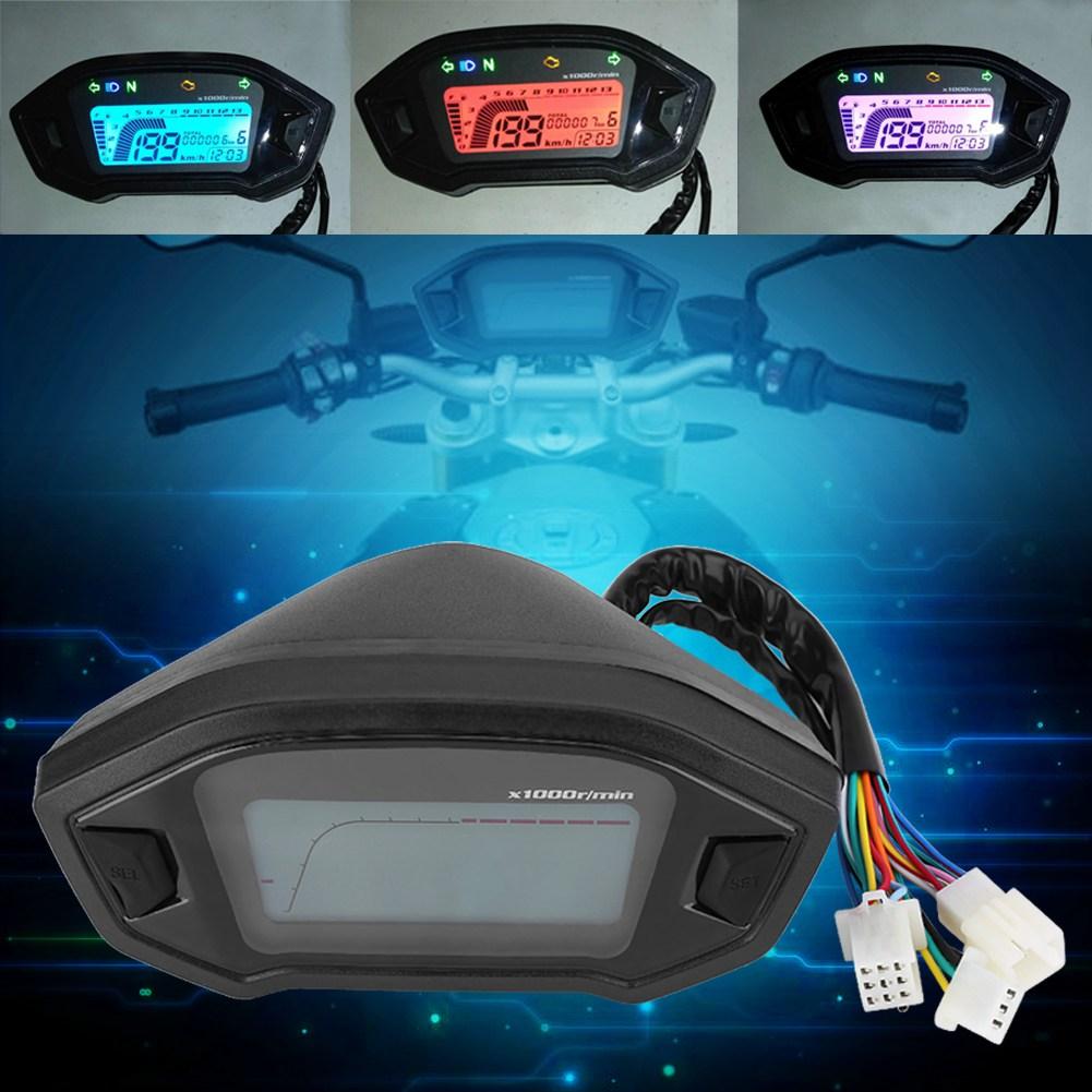 Motorcycle Digital Colorful Lcd Gauge Backlight 13000rpm
