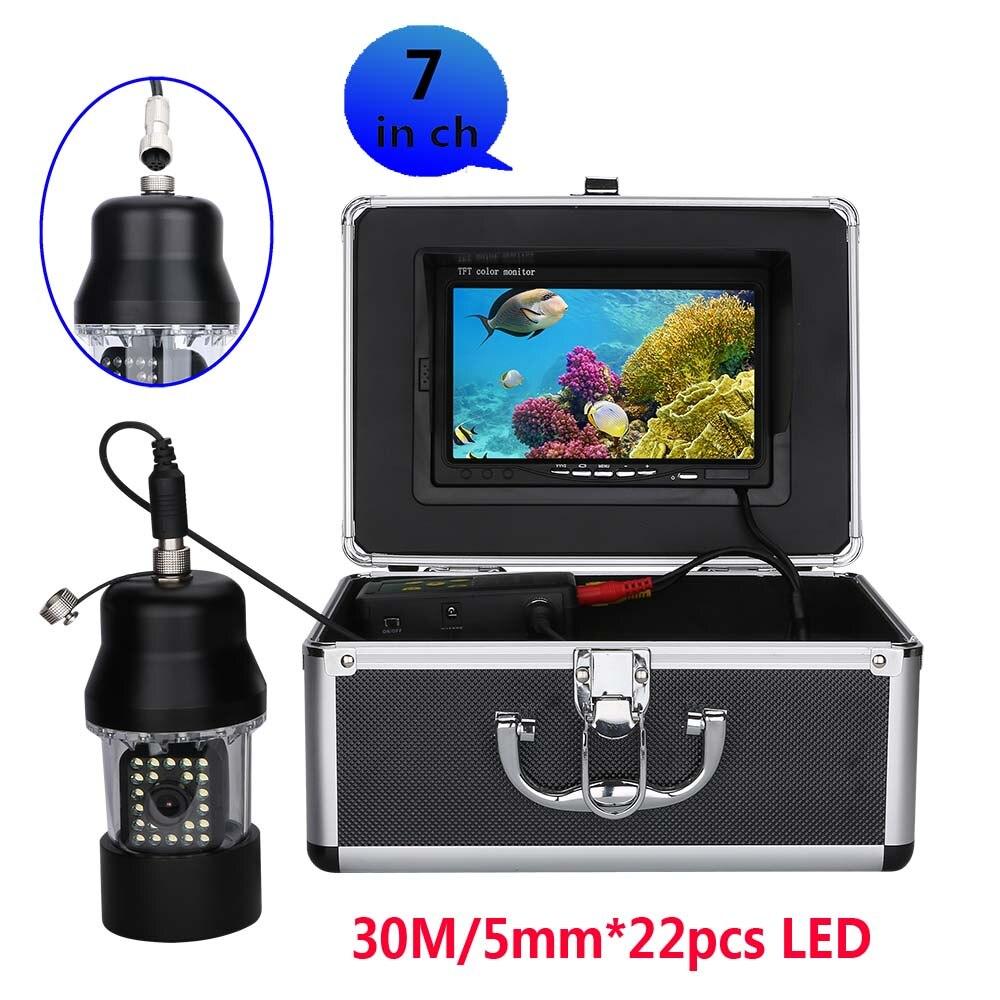 """GAMWATER """" TFT монитор 15 м 30 м кабель Поворот на 360 градусов подводная камера Подводная рыболовная камера рыболокатор 1000 ТВЛ - Цвет: White LEDs 30M Cable"""
