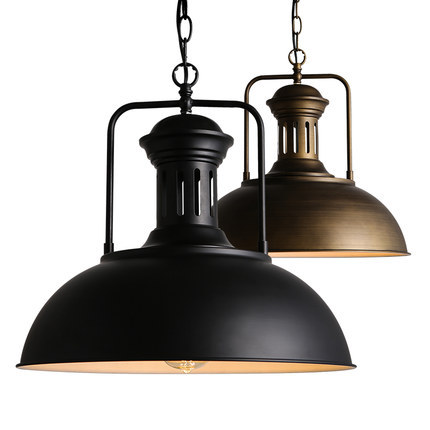 Vintage Rustic Industrial Metal Iron Lid Cap Lampshade for E27 LED
