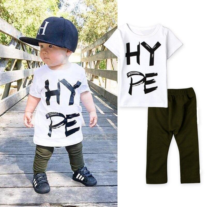 de40a645b New 2016 summer baby boy clothes fashion cotton short sleeve letter ...