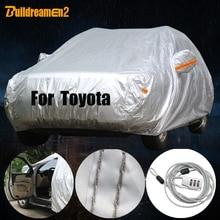 Buildreamen2 Outdoor Car Cover Sun Rain Snow Dust Resistant Cover Waterproof For Toyota Yaris Vios Reiz Crown FJ Cruiser Sequoia