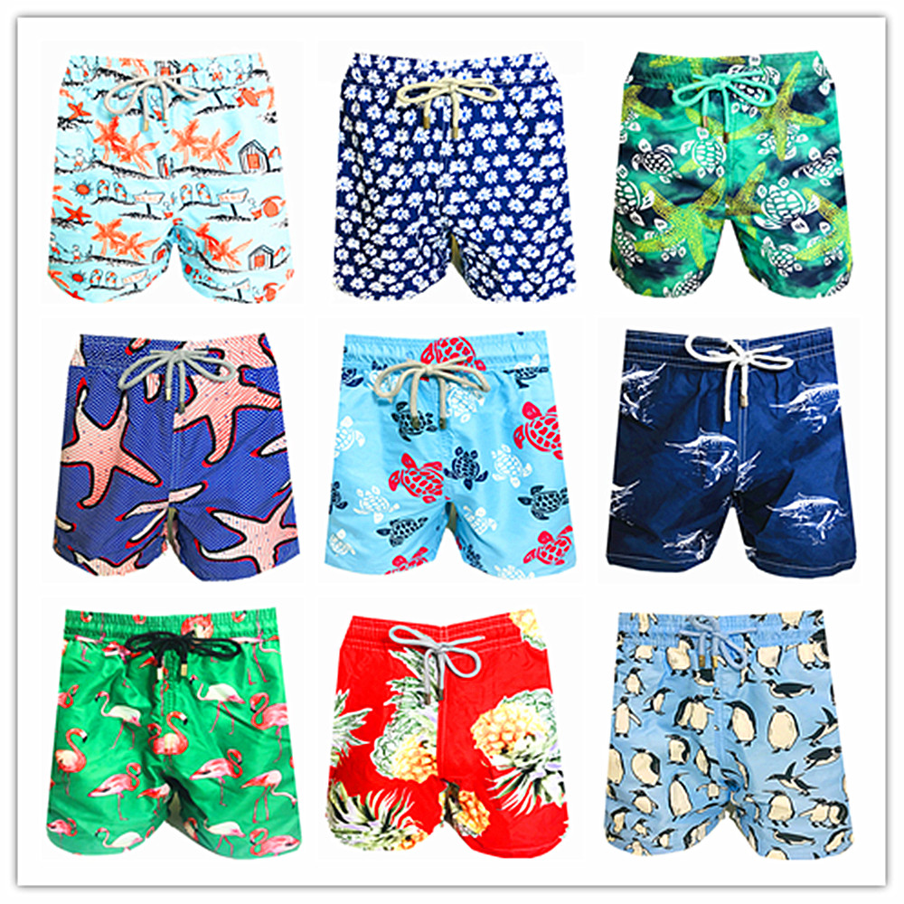 2019 Brand BREVILE PULLQUIN   Board     Shorts   Turtle Swimwear   Shorts   Bermuda 100% Quick Dry Sexy Beach Boardshorts Men High Quality