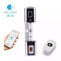 L5SR Plus WELOCK Bluetooth Smart Lock электронный цилиндр открытый Водонепроницаемый биометрическим сканером отпечатков Пальцев Keyless дверные замки