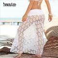 Mujeres Sexy Bikini Swimwear Cover Up Falda de La Playa de Malla Hollow Crochet Falda NS1946
