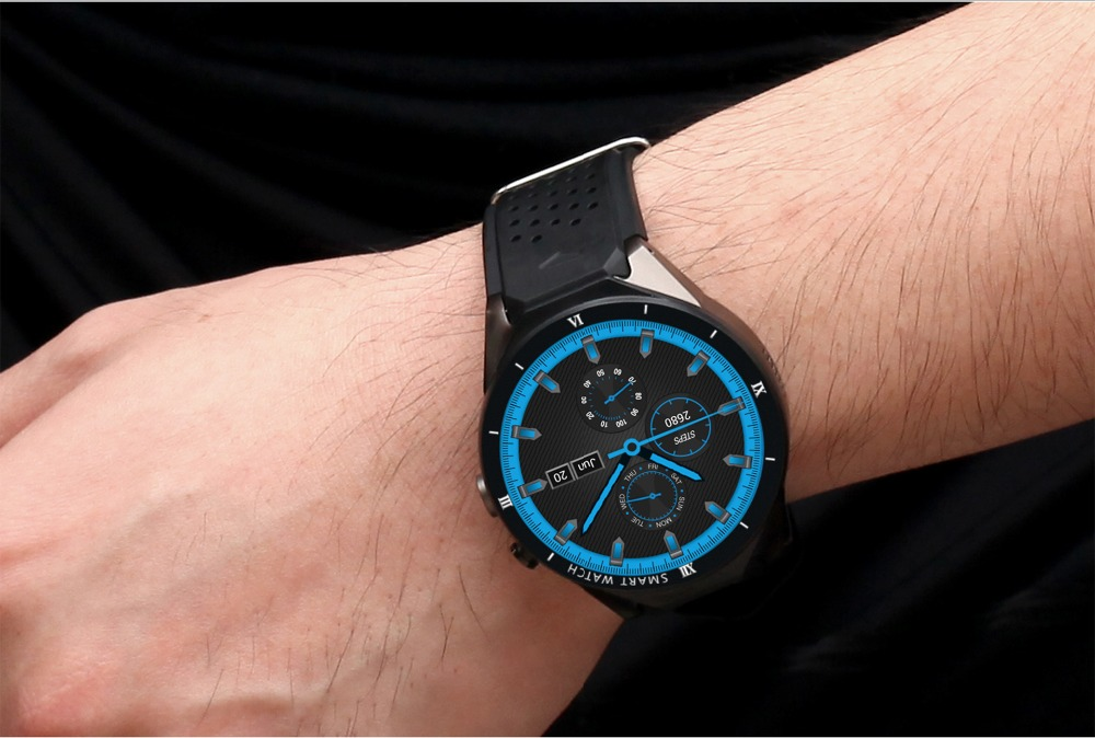 Montre intelligente 3G Android 7.0 Smartwatch Bluetooth pour homme