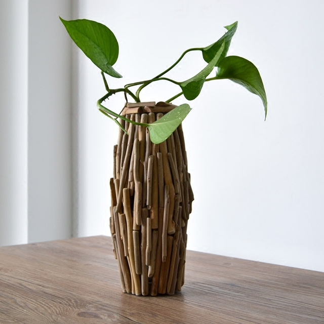 Aliexpress Buy Really Handmade Solid Wood Flower Vase With