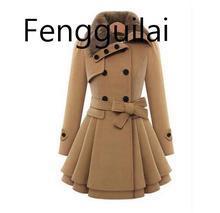 Winter Coat Women Wool  Blends Coats Female Jacket Winter Woman Coat Warm Windbreaker Plus Size Abrigos Mujer Invierno 2019 New стоимость