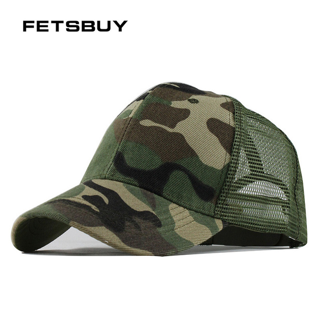 FETSBUY2018 Camo Breathable Mesh Baseball Cap Men Women Tactical Cap  Snapback Hat For Men High Quality Fashion Bone Hip Hop Cap 13ffc06d5c46