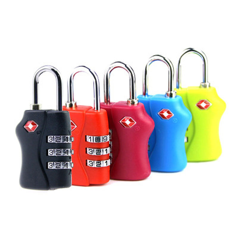 цены High Quality Resettable 3 Digit TSA Locks Smart Combination Lock For Travel Luggage Suitcase Code Padlock With 5 Colors