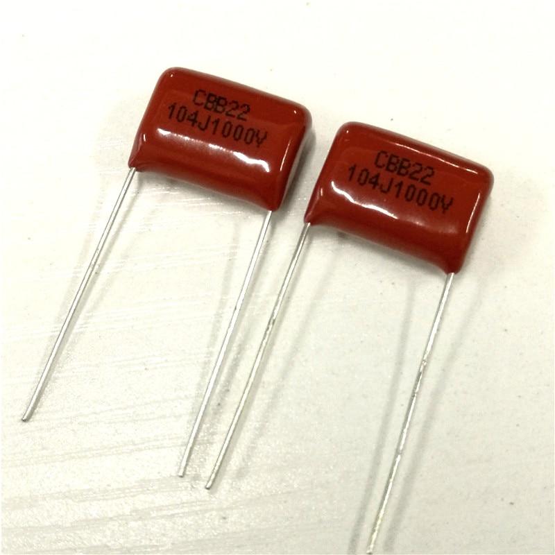 10pcs CBB Capacitor 104 1000V 104J 1KV 0.1uF 100nF P15 CBB22 Metallized Polypropylene Film Capacitor