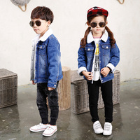 Children Thick Warm Outerwear Jeans Jacket Casual Coat Fashion Baby Boys Solid Coat Kids Clothes Denim