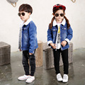 Children Thick Warm Outerwear Jeans Jacket Casual Coat Fashion Baby Boys Solid Coat Kids Clothes Denim Baby Girl Outerwear Coats