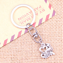20pcs New Fashion Keychain 17x16mm cheer love cheerleading Pendants DIY Men Jewelry Car Key Chain Ring Holder Souvenir For Gift 20pcs new fashion keychain 39x26mm car vw bug beetle herbie pendants diy men jewelry car key chain ring holder souvenir for gift
