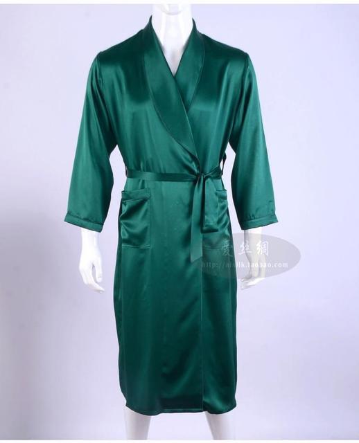 Amor dos homens de seda pijamas de seda pesada de manga comprida robe longo roupão de seda roupas de seda (Mobiliário Doméstico grande código 2