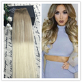Full Shine 2016 New Fashion Balayage Ombre Hair Bundle Color #8#60 100% Human Hair Weaving Cheap Human hair 100g Lot