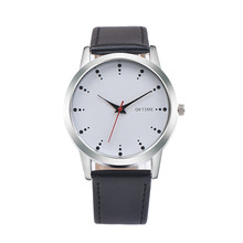 CLAUDIA Fabulous Retro Design Dot Leather Band Analog Alloy Quartz Wrist Watch mens watches top brand luxury High Quality skmei