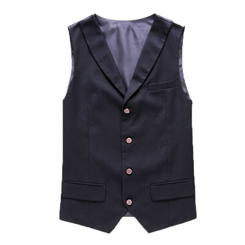 The new men's business casual British men's suit vest Korean Slim vest fashion vest single breasted vest