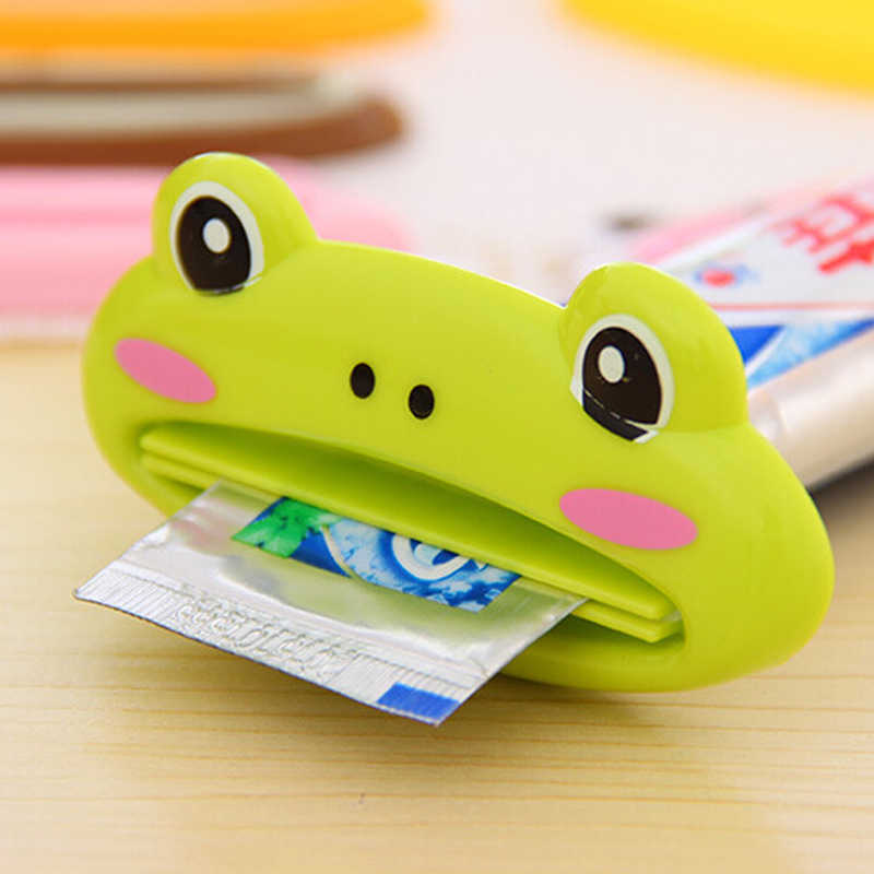 Cartoon Badkamer Dispenser Tandpasta 1Pcs Cute Animal Tube Squeezer Gemakkelijk Squeeze Paste Dispenser Roll Hold Thuis Grondstoffen F0300