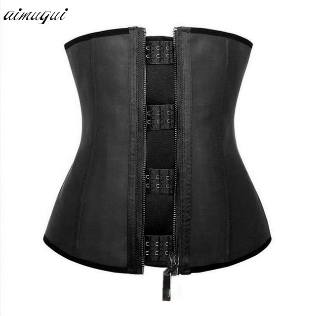 Latex shapewear zipper waist trainer Cincher Belt Postpartum Tummy Trimmer Shaper  Slimming underwear waist trainer corset d359e3924