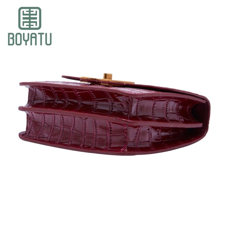 Boyatu brand  cow Leather women crossbody bags Europe and American style retro Animal pattern shoulder bags  2017 new mini bag