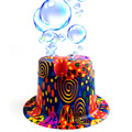 1set 2018 new hot the bubble playing hat adult or kids automatic electric bubble blowing hat 27*24*12cm soap bubble gun d10